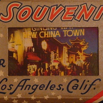 Miniature Postcards Los Angeles California Mid Century - Postcards
