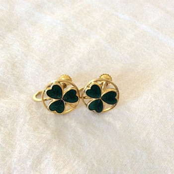 Shamrocks earings  - Costume Jewelry