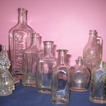 Collection of Old Bottles and Glassware - Bottles