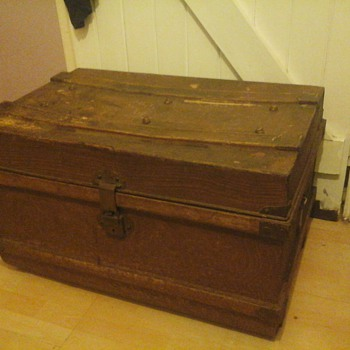 old metal chest I got from antique shop
