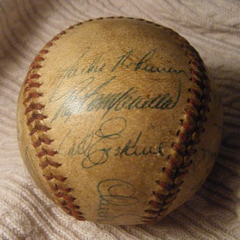 1948 Dodgers Team Ball