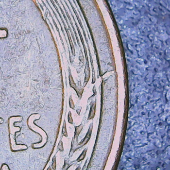 1951s Extra leaf protruding from wheat - US Coins