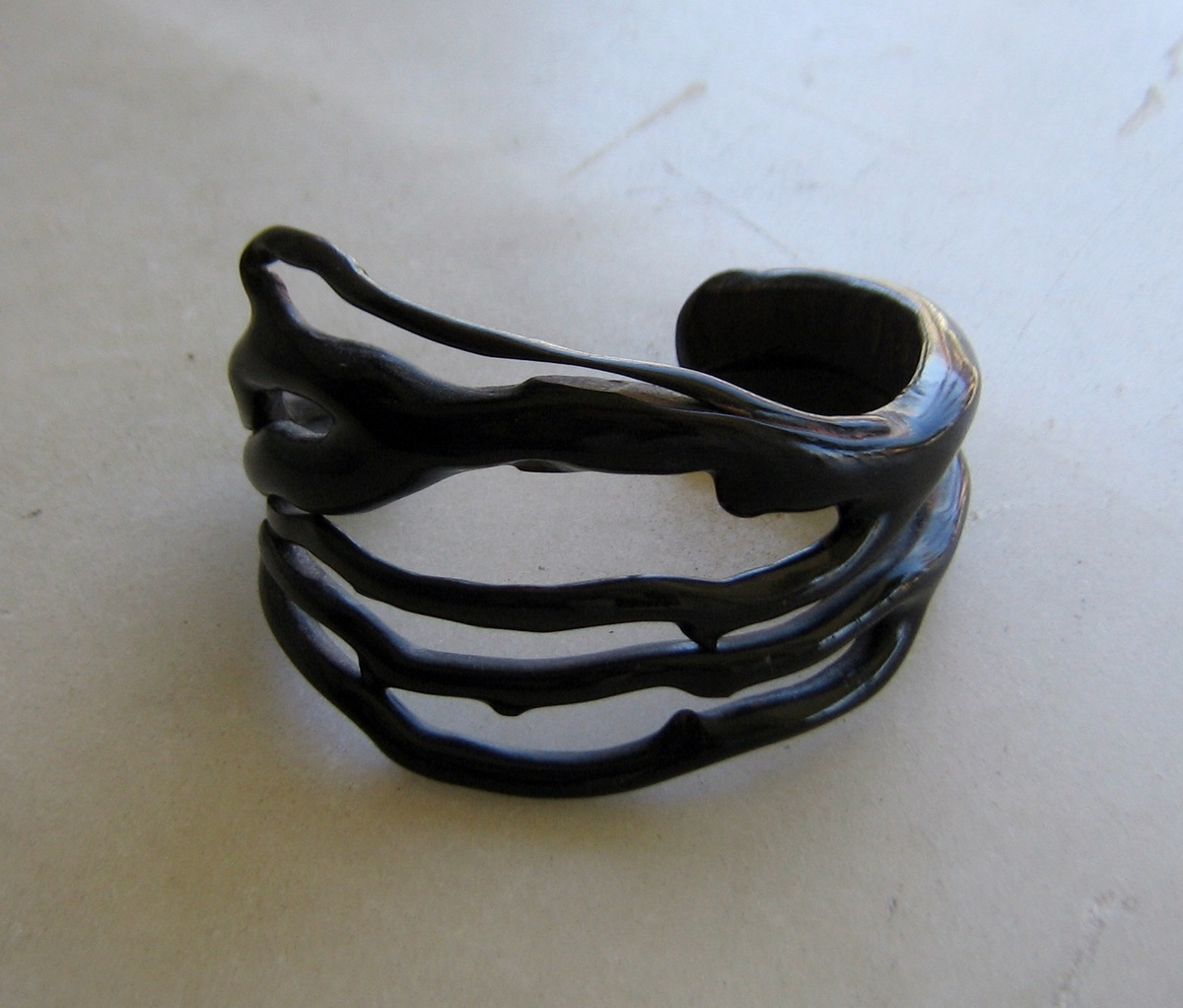 Black Coral Cuff Bracelet Collectors Weekly