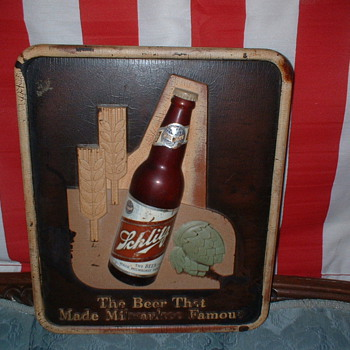 Schlitz Beer corner sign