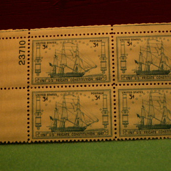 1947 U-S- Frigate Constitution 3¢ Stamps - Stamps