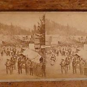 1876 Deadwood South Dakota stereoview - Photographs