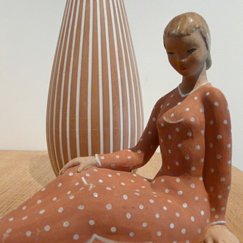 Anna Berkovits  (Glauber Andorné)  1911 -1986. - Art Pottery