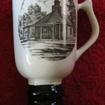 Hall China tri-state East Liverpool Ohio pottery festival 1979 mug - Art Pottery