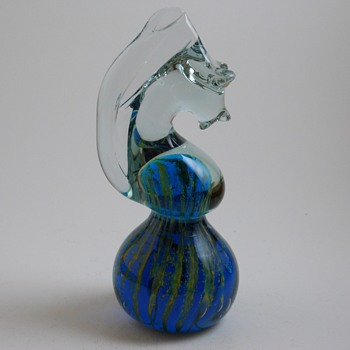 "Mdina (Maltese) Art Glass ""Sea Horse"" Paperweight, 1970s - Art Glass"