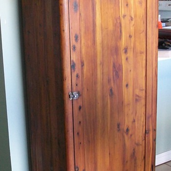 Klein Bros of Long Island City, NY .. Tall Cedar Pantry Chest