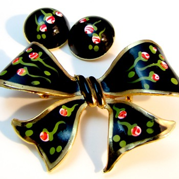 Black Enamel Demi - Costume Jewelry