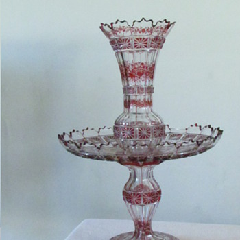 3 Tier glass vase