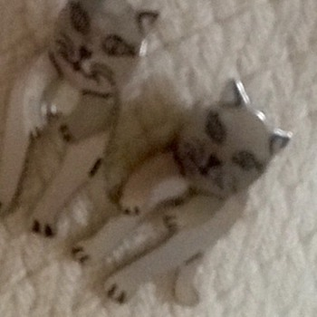 Sterling silver cat earrings - Fine Jewelry