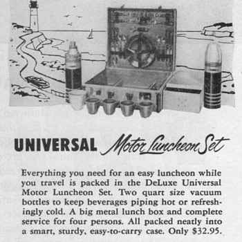 1952 - Universal Motor Luncheon Set Advertisement