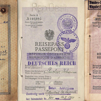 The Austrian passport before, during & after 1938. - Paper