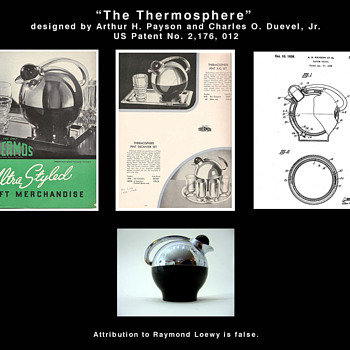 """The Thermosphere"" - decanter / jug - Art Deco"