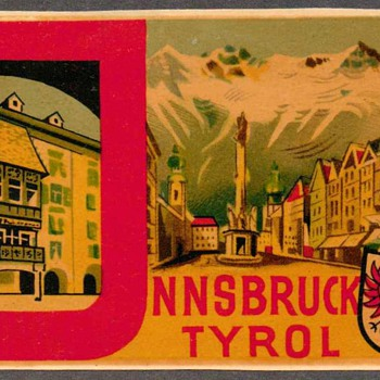 "Travel Decal - ""Innsbruck-Tyrol"" (Austria) - Advertising"