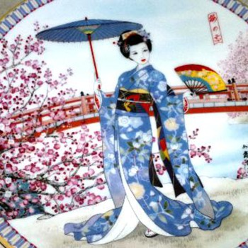 beautiful Japanese  Geisha?  Plate  - Asian