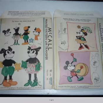 1930s Mickey Mouse patterns