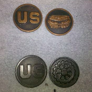 WWI US Army Collar Disc Collection ~group #3 - Military and Wartime