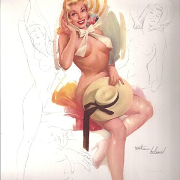 """WALKSOFTLY"" THIS IS FOR YOU. 1957 PINUP CALENDAR WITHERS HOLLYWOOD"
