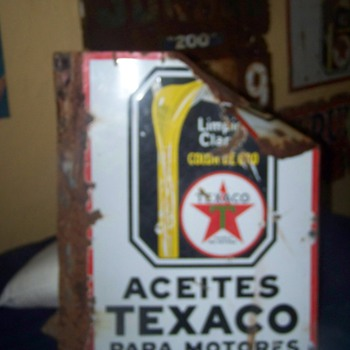 texaco sign - Petroliana