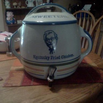 Louisville Stoneware - KFC Unsweetened Ice Tea Dispenser - Advertising