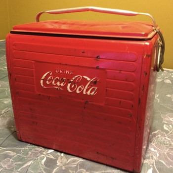 1955 Coca-cola ice pack cooler