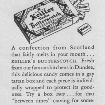 1950 - Keiller&#039;s of Dundee Advertisements