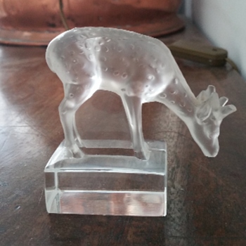 Lalique Glass Deer - Art Glass