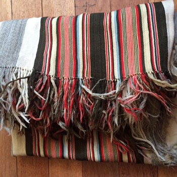 Lightweight Wool Striped Throw - Rugs and Textiles