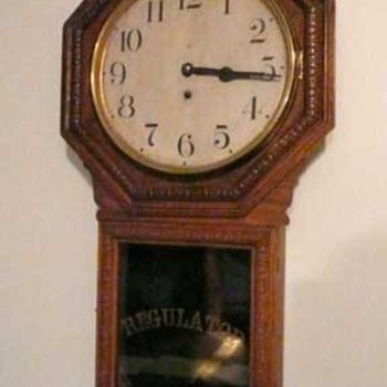 1920s Waterbury Regulator Clock--from one-room schoolhouse - Clocks