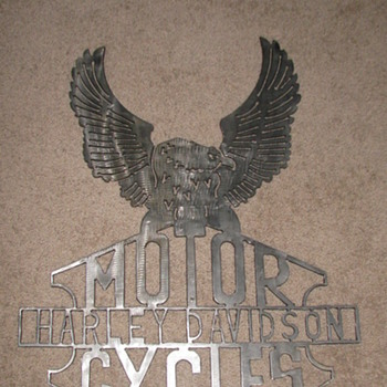 Harley Davidson Advertising (Hand Made)