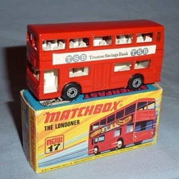 "Matchbox Superfast no.17 the Londoner ""Trustee Savings Bank"" - Model Cars"