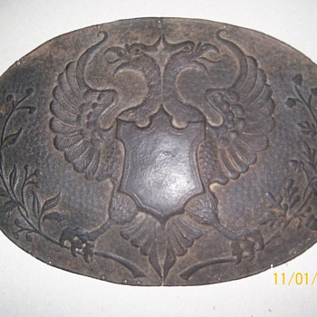 Early Dubble Eagle Emblem On Leather - Victorian Era