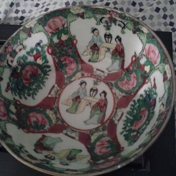 Hand Painted Asian Bowl Japanese Chinese ?