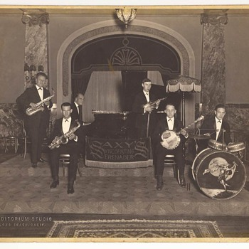 Four Early/Vintage Big Band Photographs -Two Signed - Photographs