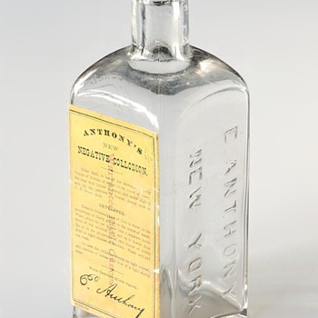 Anthony's New Negative Collodion Bottle, 1860s to 80s (attributed dates)