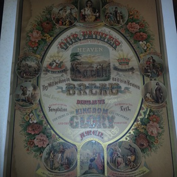 1882 Lord's Prayer and 10 Commandments. - Posters and Prints