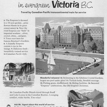 1952 - Canadian Pacific Railway Advertisement