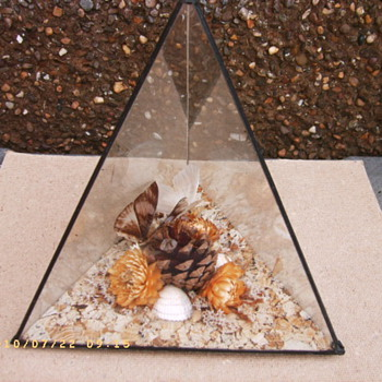Triangular glass diorama - Victorian? - Victorian Era
