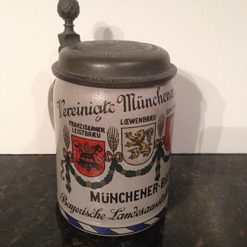 1906 German Stein - Breweriana