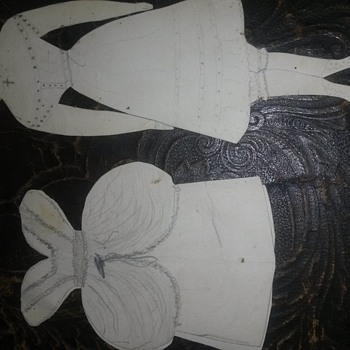 paper doll found in family bible 1850s-1860s - Dolls