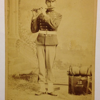 Band Member Cabinet Card photo, unknown who the artist is - Photographs