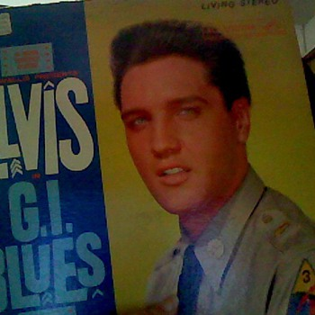 Hal Wallis presentation ELVIS in G. I. BLUES record