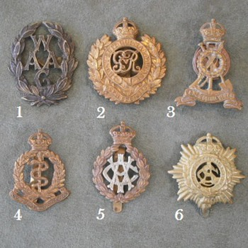 British Arms and Services Cap Badges - Military and Wartime
