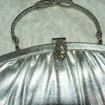 1950's Silver Handbag - Accessories
