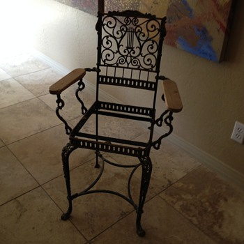 antique metal chair mystery - Furniture
