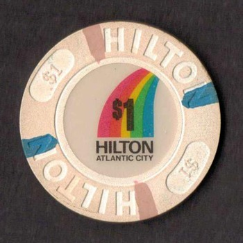 Hilton Casino $1 Gaming Chip