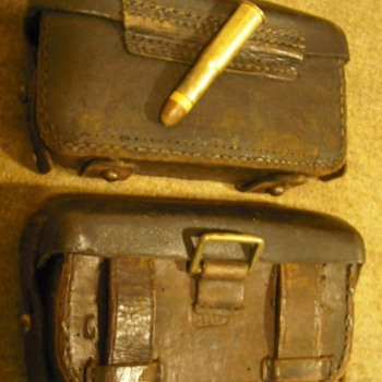 German 1871 Mauser Ammo & Cartridge Pouches - Military and Wartime